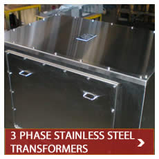 Stainless steel transformers